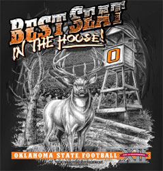 Oklahoma State Cowboys Football T-Shirts - Best Seat In The House - Deer Stand