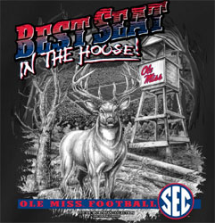 Ole Miss Rebels Football T-Shirts - Best Seat In The House - Deer Stand