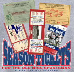Ole Miss Rebels Football T-Shirts - Season Tickets Lifetime Sportsman