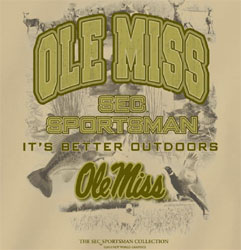 Ole Miss Rebels Football T-Shirts - SEC Sportsman It's Better Outdoors