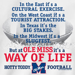 Ole Miss Rebels Football T-Shirts - Way Of Life