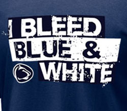 Penn State Nittany Lions Football T-Shirts - I Bleed Blue & White