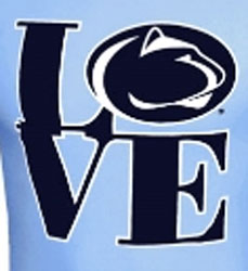 Penn State Nittany Lions Football T-Shirts - Love Logo