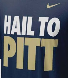 Pittsburgh Panthers Football T-Shirts - Hail To Pitt By Nike