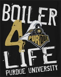 Purdue Boilermakers Football T-Shirts - Boiler 4 Life