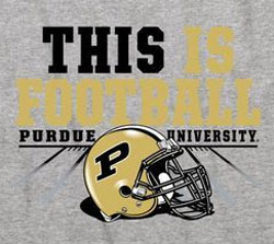 Purdue Boilermakers Football T-Shirts - This Is Football