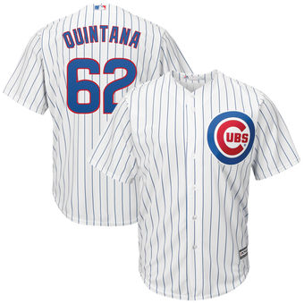 Jose Quintana 62 Chicago Cubs Majestic Cool Base Player Jersey - White