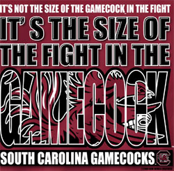 South Carolina Gamecocks Football T-Shirts - Beware The Gamecocks - The Size Of The Fight