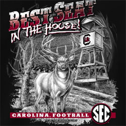 South Carolina Gamecocks Football T-Shirts - Best Seat In The House - Deer