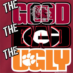 South Carolina Gamecocks Football T-Shirts - The Good The Bad The Ugly