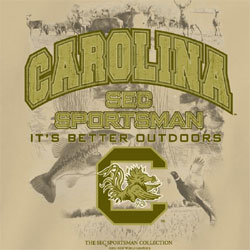 South Carolina Gamecocks Football T-Shirts - SEC Sportsman It's Better Outdoors