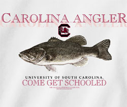 South Carolina Gamecocks Football T-Shirts - Fish Schooled - Carolina Angler