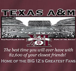 Texas A&M Aggies Football T-Shirts - Welcome To My House - Kyle Field