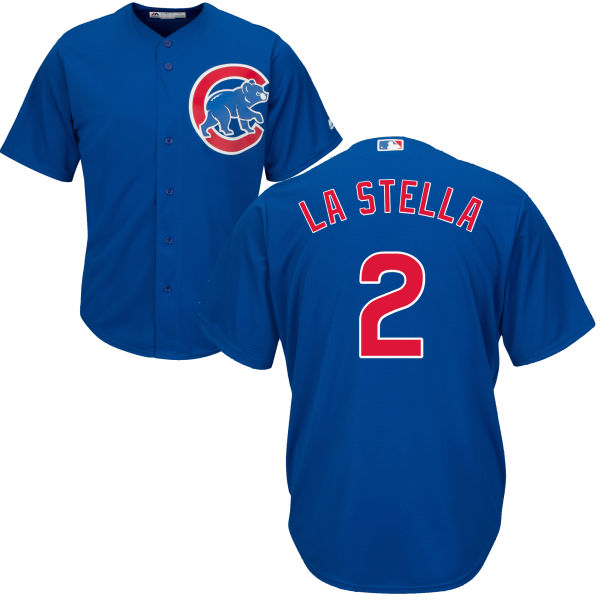 Tommy La Stella 2 Chicago Cubs Majestic Cool Base Player Jersey - Royal