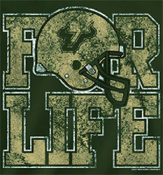South Florida Bulls USF Football T-Shirts - For Life