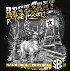 Vanderbilt Commodores Football T-Shirts - Best Seat In The House - Deer