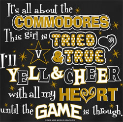 Vanderbilt Commodores Football T-Shirts - Yell & Cheer For Vandy