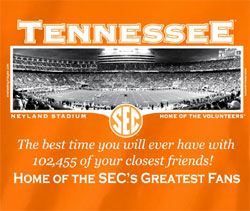 Tennessee Volunteers Football T-Shirts - Welcome To The SEC Neyland Stadium