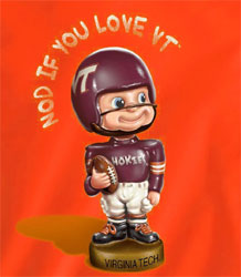 Virginia Tech Hokies Football T-Shirts - Nod If You Love Hokies - Bobblehead