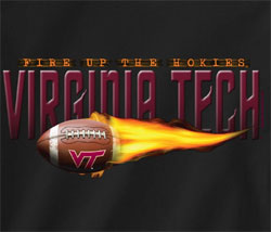 Virginia Tech Hokies Football T-Shirts - Fire Up The Hokies