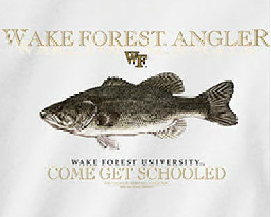 Wake Forest Demon Deacons Football T-Shirts - Angler Fish - Come Get Schooled