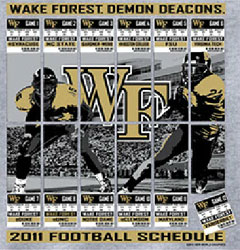 Wake Forest Demon Deacons Football T-Shirts - 2011 Schedule Tickets To Glory