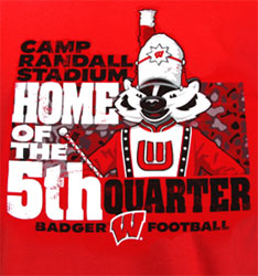 Wisconsin Badgers Football T-Shirts - Home Of The 5th Quarter