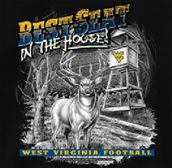 West Virginia Mountaineers Football T-Shirts - Best Seat In The House - Deer